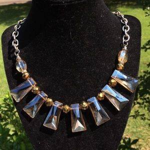 Gorgeous vintage champagne crystal necklace